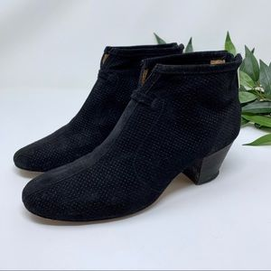 Aquatalia Xcellent Black Heeled Ankle Bootie 7
